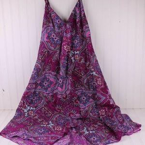 Coline M Multi Color Handkerchief Hem Dress